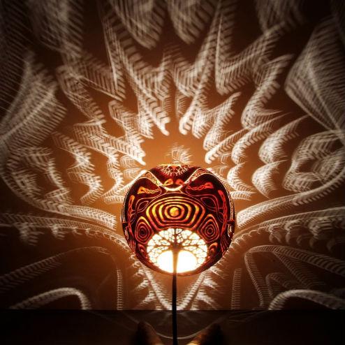 Оригинальная лампа-тыква от Calabarte