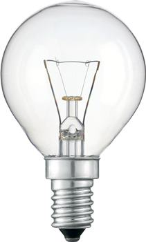 Лампа накаливания Philips P45 60W 230V E14 CL.1CT/10X10F