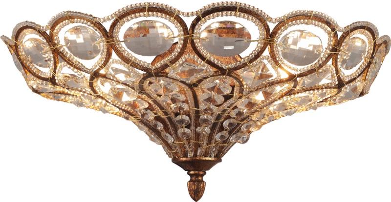Полуоктрытое бра из хрусталя Altalusse INL-1097W-02 Spanish Gold